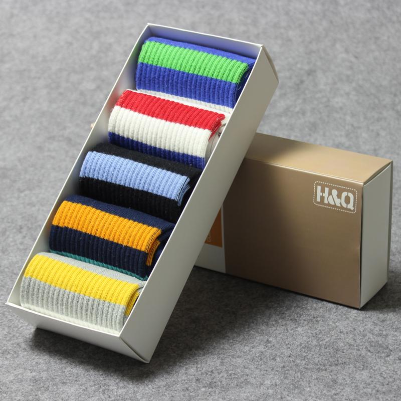袜子男 男士纯棉 夏季中筒船袜防臭四季礼盒耐穿短袜