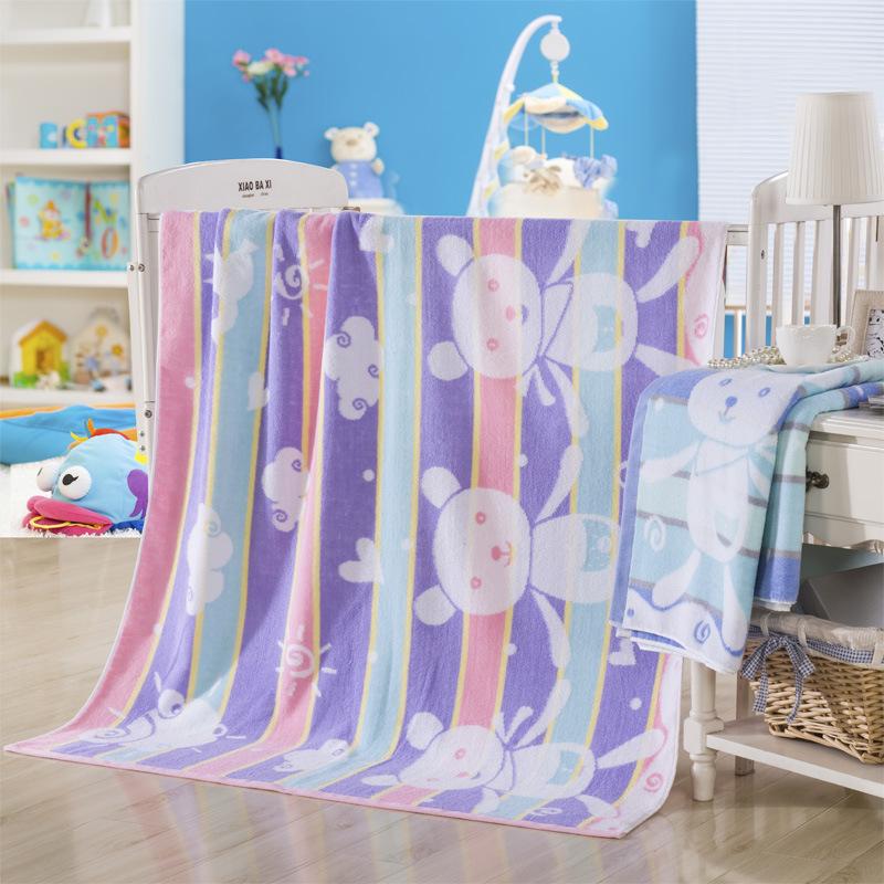 梦兰家纺纯棉毛巾被儿童夏被超柔大浴巾儿童薄被特价包邮