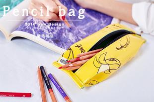 创世文体 创意趣味文具盒 零食饼干香蕉笔袋 文具收纳袋 零钱包