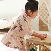 女童秋款套装2017韩版公主卫衣印花拉链外套开衫裙裤两件套包邮