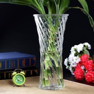 简约现代插花玻璃花瓶 水培富贵竹玫瑰百合大号透明花器客厅摆件