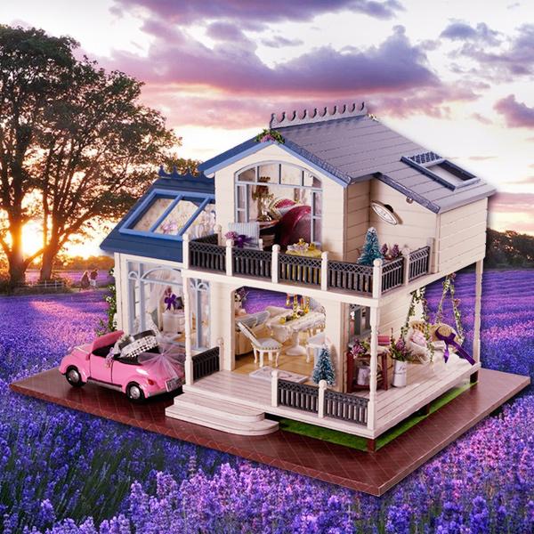 普罗旺斯手工制作diy小屋公主房子模型别墅玩具创意男女教师礼物