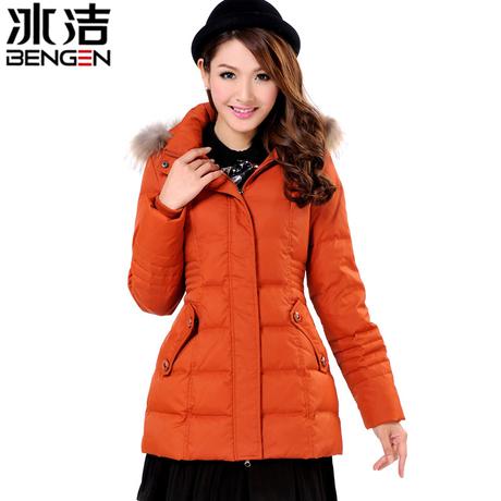 冰洁羽绒服中老年女短款妈妈装加厚保暖大码时尚冬装外套反季商品大图