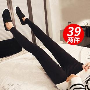 南极人打底裤女裤2017新款外穿薄款韩版显瘦九分春夏季百搭小脚黑