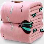 毛毯加厚冬季法兰绒单人双人宿舍法莱绒铺床毯子珊瑚绒床单单件