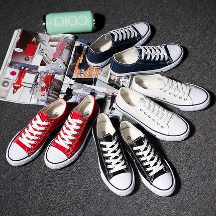 夏季男士帆布鞋男鞋休闲鞋男韩版学生布鞋运动板鞋情侣低帮潮鞋子