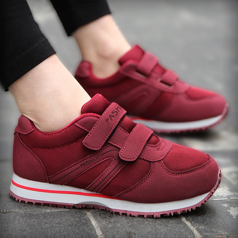 健步鞋女鞋子2017冬季新款防滑妈妈鞋软底中老年运动鞋百搭老人鞋