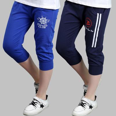 童装男童运动短裤夏季薄款3-12岁大童休闲七分裤子男孩马裤沙滩裤