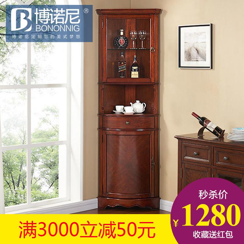 客厅三角柜欧式转角酒柜客厅转角柜储物柜边墙角柜