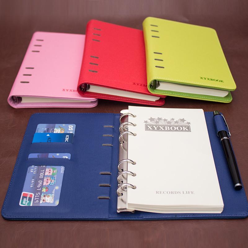 韩国创意商务记事本小随身 活页夹纸本子批发 笔记本文具包邮定制