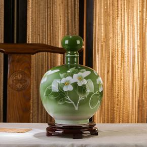5斤10斤景德镇陶瓷酒壶球形圆形酒瓶酒坛子酒具带锁扣优质泡酒瓶