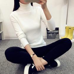 2016秋冬新款韩版短款高领打底针织衫女装修身显瘦套头毛衣保暖