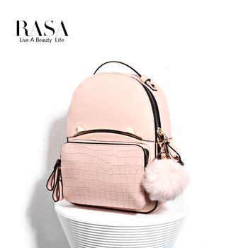 RASA/瑞尚女士包包毛球挂饰可爱