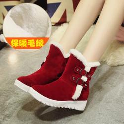 2017新款冬季保暖靴女学生平底短靴女鞋短筒雪地靴子加绒韩版棉鞋