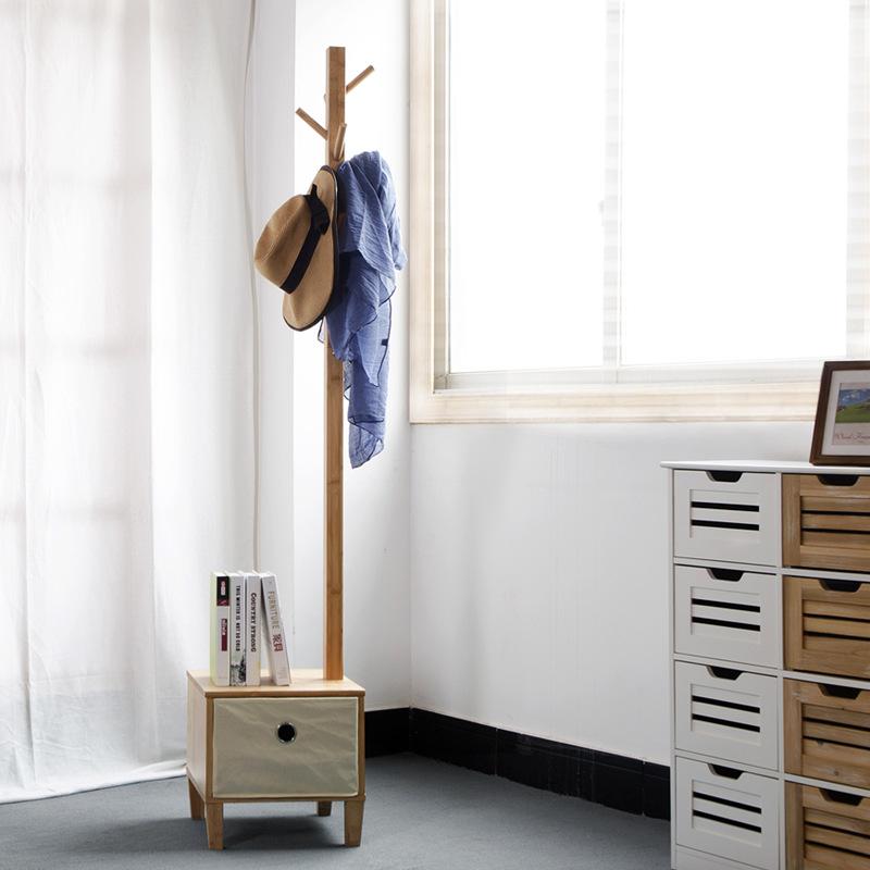 楠竹卧室落地衣帽架创意实木挂衣架欧式
