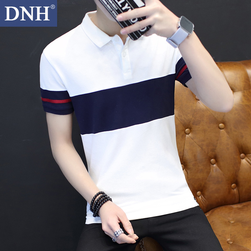 保羅夏季男士衫韓版體恤青年修身短袖休閑翻領衣服