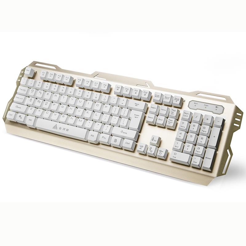 金河田K2 背光游戏电脑有线键盘台式发光机械手感USB笔记本外接
