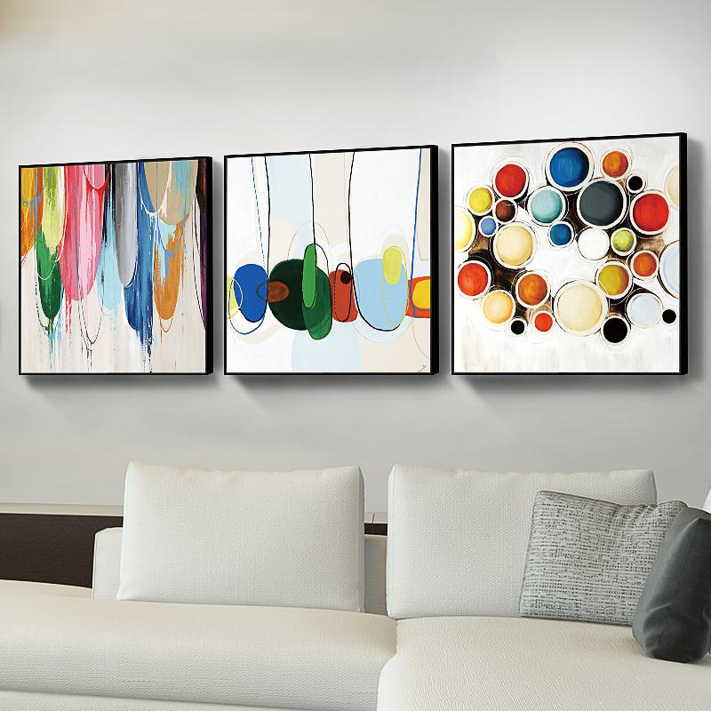 金石抽象畫現代簡約裝飾畫沙發背景墻客廳臥室油畫畫