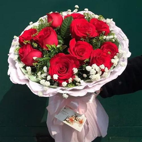 全国送花常德鲜花速递同城生日鲜花11朵红玫瑰花武陵鼎城津市深圳