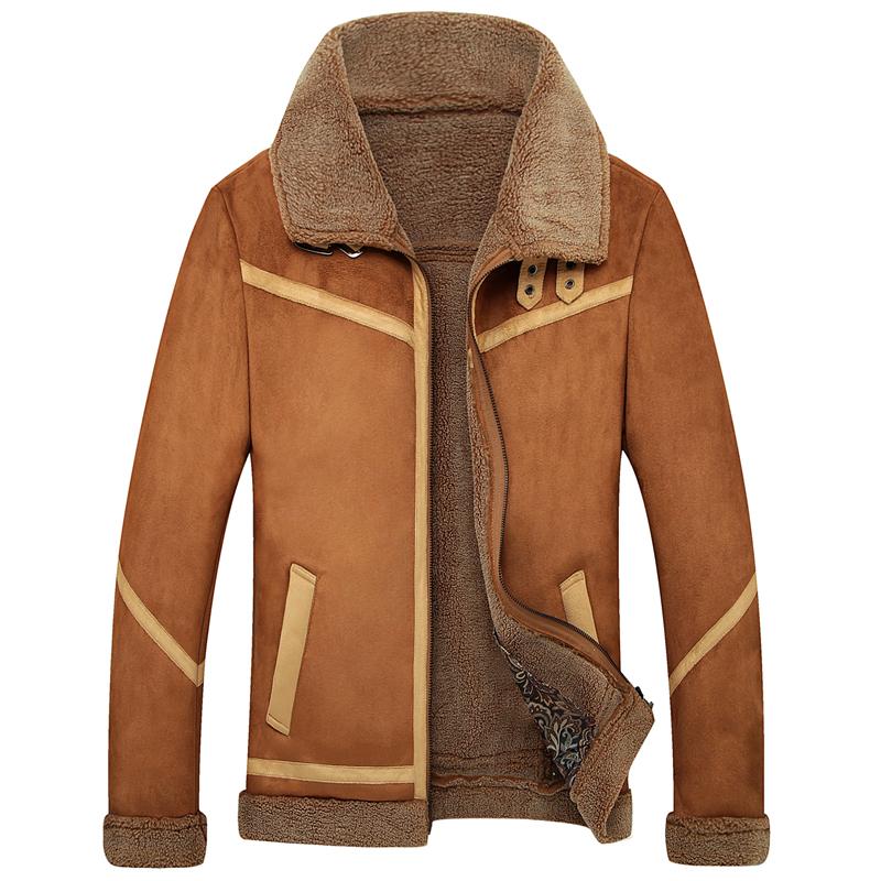 皮衣特价新款男装皮毛一体皮衣男士翻领真皮皮衣男皮草夹克潮外套