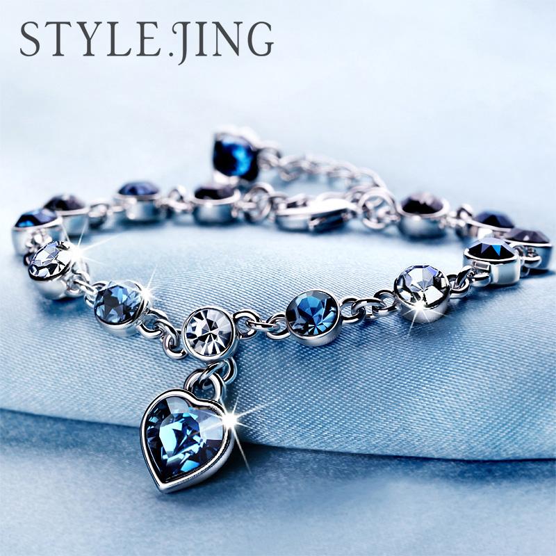静风格十二星座水晶手链女采用施华洛世奇元素日韩版首饰生日礼物