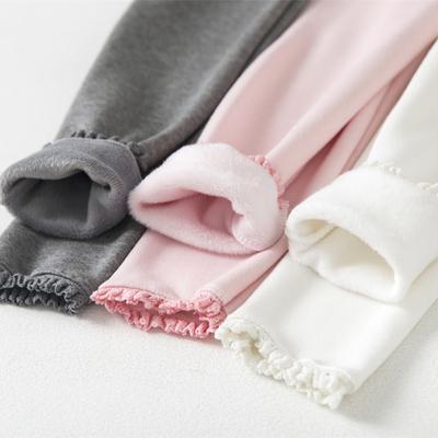 南极人加绒加厚冬季女宝宝外穿童装中大童女童儿童保暖棉裤打底裤