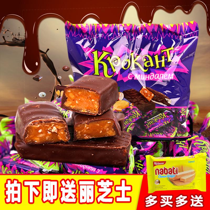 俄羅斯進口 糖果酥糖休閑零食喜糖 巧克力皮糖KDV夾心