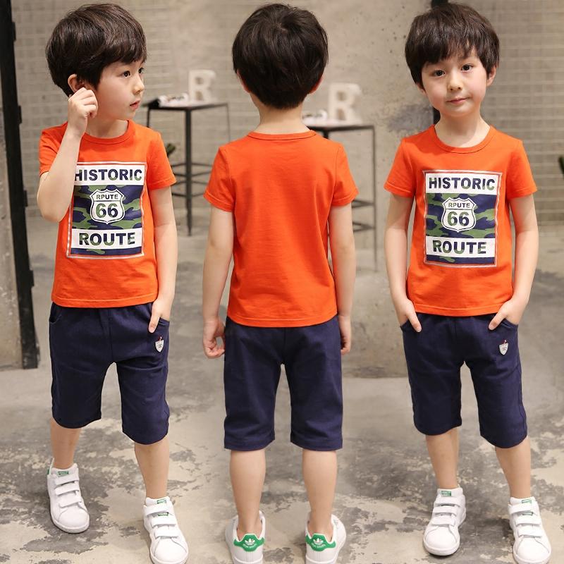 3童装男童夏装套装2017新款5儿童夏季7短袖韩版9周岁男孩中大童潮