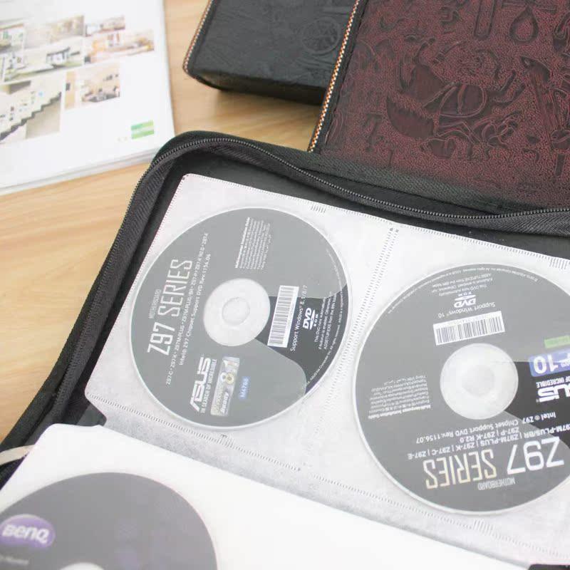 80片装CD光盘收纳包 DVD电影光盘包汽车家用唱片光碟收纳盒收纳袋