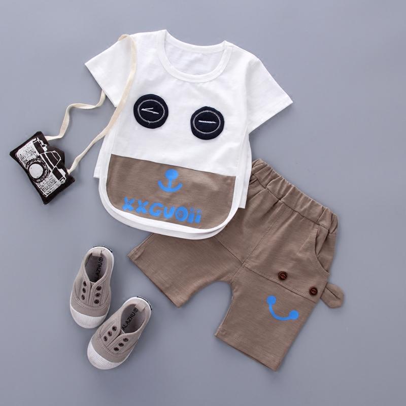 童裝衣服套裝短袖純棉周歲男童寶寶夏季