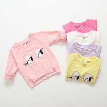 婴儿衣服0 3岁 女童宝宝纯棉卫衣2017春装 上衣韩版 新款 童装