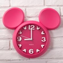 创意儿童房挂钟超静音时尚可爱艺术钟表现代简约卧室时钟卡通挂表