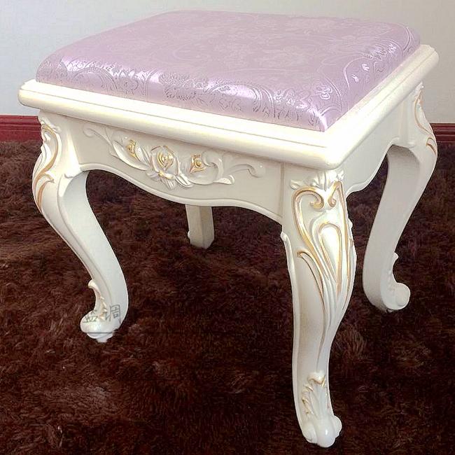 欧式梳化妆凳简约现代布艺实木梳妆台椅子美甲凳子换