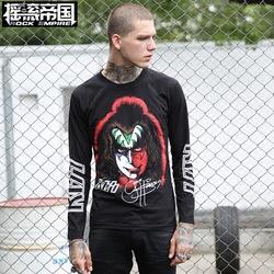 搖滾帝國重金屬樂隊KISS長袖T恤潮牌男裝純棉圓領