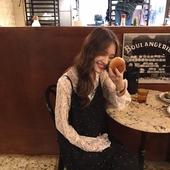 [ELINASEA]小海自制 秋季甜美气质长款小圆领长袖镂空蕾丝连衣裙X