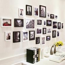 北欧超大照片墙夹子装饰悬挂客厅无痕钉相框创意墙挂墙组合相片墙