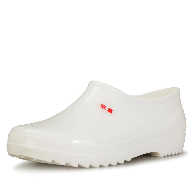 双星2015夏季秋季食品雨鞋男女元宝口白色水鞋牛筋底防水防滑雨靴