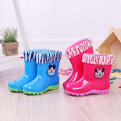 儿童雨鞋四季男女童宝宝防滑通用中筒水鞋大中童卡通胶鞋幼儿雨靴