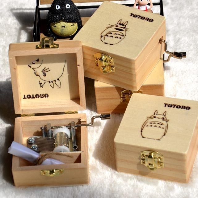 创意多啦a梦儿童手摇音乐盒 叮当龙猫八音盒天空之城生日礼物女生