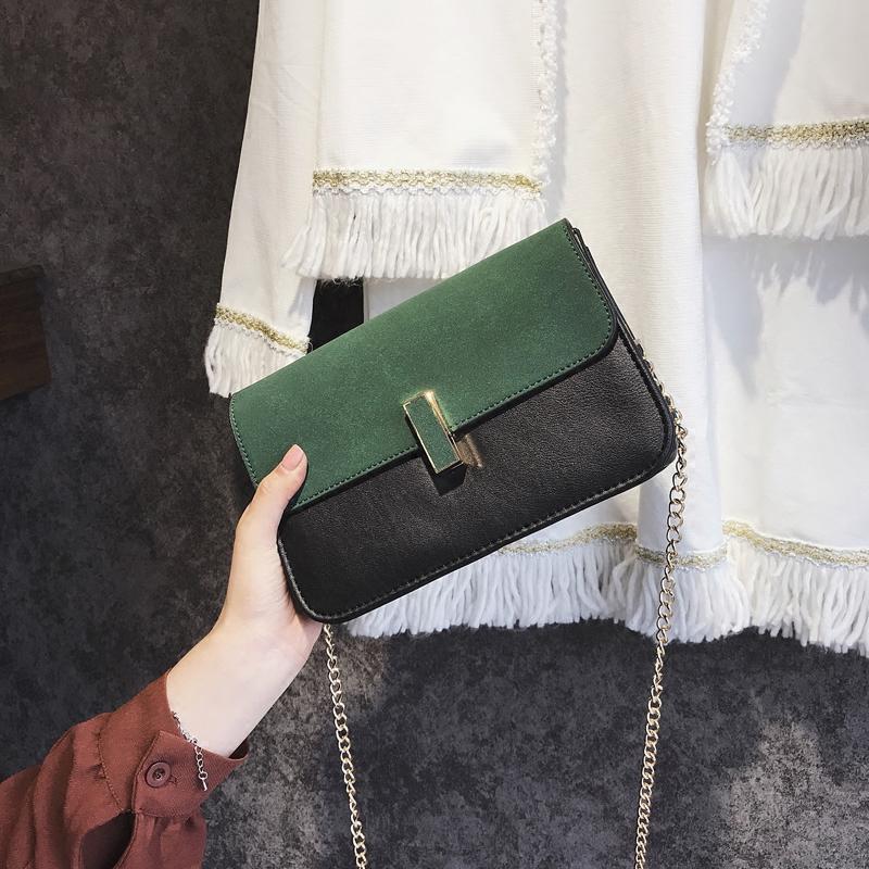 链条夏季挎包包包个性简约包锁扣小方包单肩斜女潮韩版