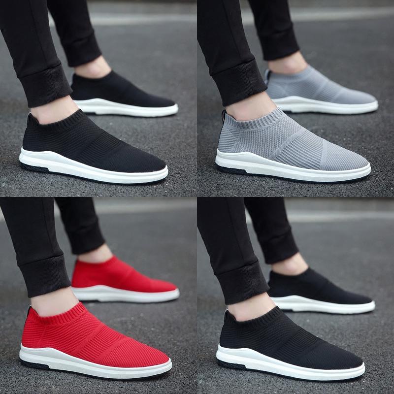 夏季新款韩版潮流男鞋子板鞋男帆布鞋男士休闲潮鞋一脚蹬懒人布鞋
