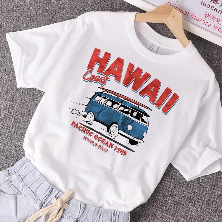 欧洲站白色t恤女短袖夏季宽松显瘦简约全棉圆领百搭字母学生休闲