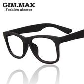 复古黑框近视眼镜框 男女韩版无镜片大框眼镜架 潮人明星款平光镜