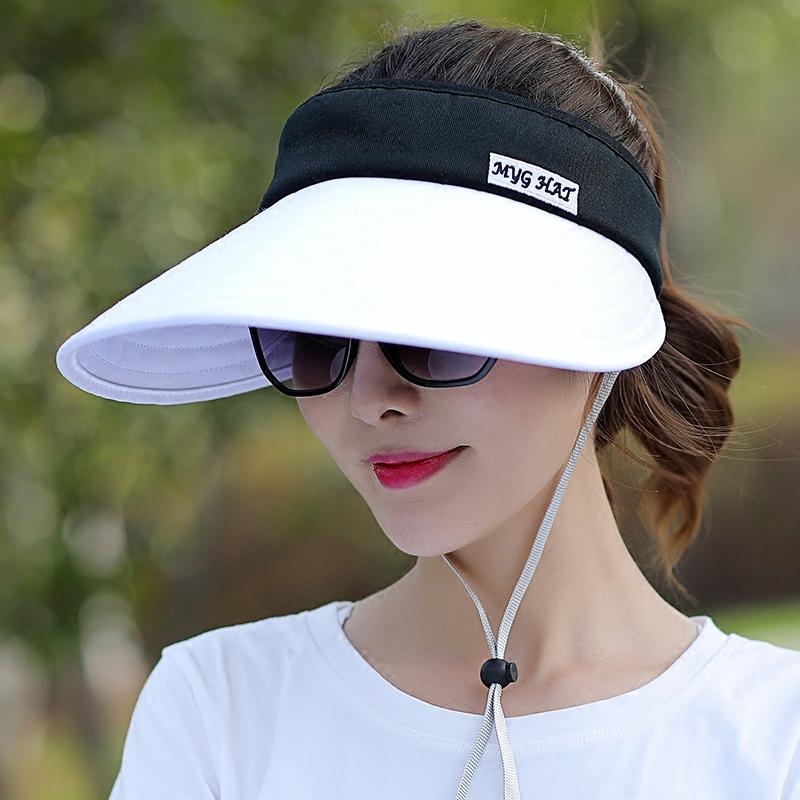 帽子沙灘紫外線戶外防曬遮陽太陽帽騎車大檐空頂夏天
