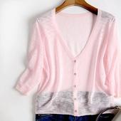 镂空针织衫 短袖 女夏薄短款 外搭小披肩外套薄款 空调衫 温木开衫