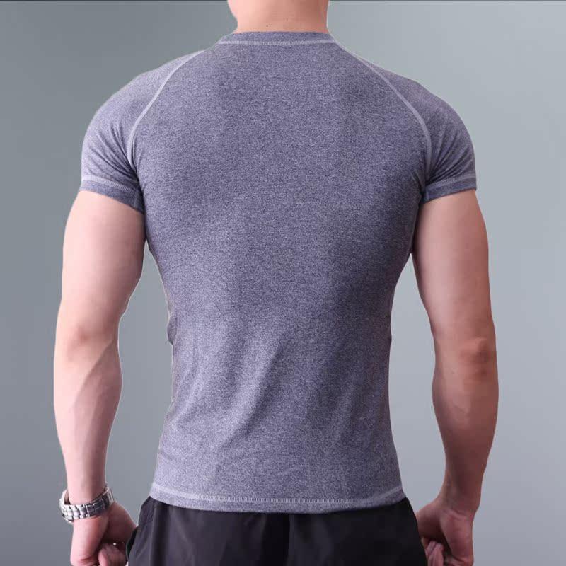 健身短袖男夏季运动紧身T恤弹力速干吸汗透气压缩衣圆领薄款上衣