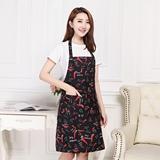 家用厨房纯棉老粗布围裙