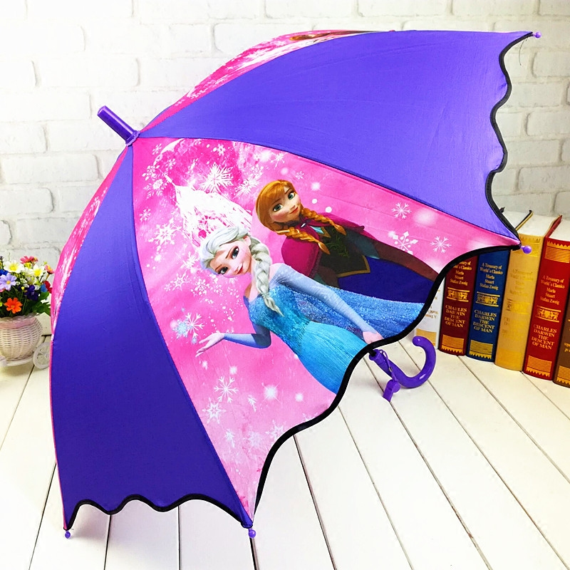 雨伞女孩动漫卡通遮阳伞长柄太阳小学生可爱公主伞